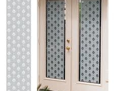 Frosted window film with pattern