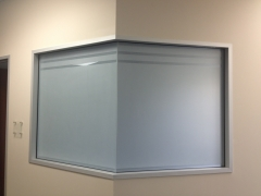 Dual frosted window film