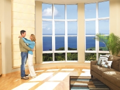 Large windows provide excellent heat control and glare reduction
