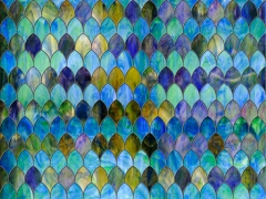 Stained glass film adds a focal point to any room