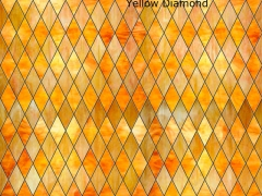 Yellow stained glass film lends cheer to a room