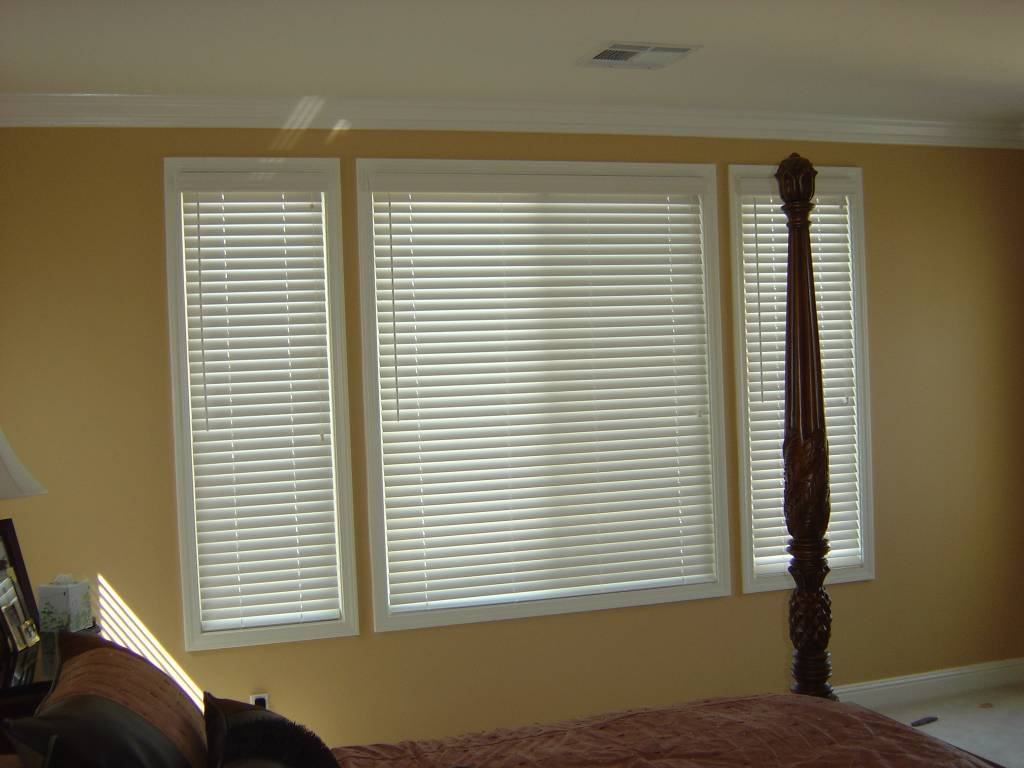2 Inch Wood Blinds In Cased Windows